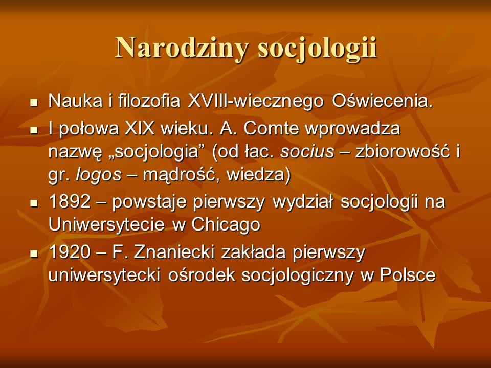 Co to jest socjologia.Etymologicznie, socjologia to nauka o społeczeństwie.