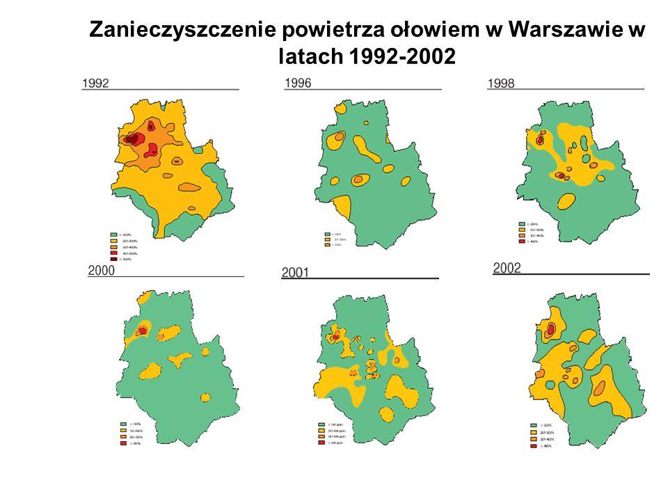Zanieczyszczenie powietrza ołowiem w Warszawie w latach 1992-2002