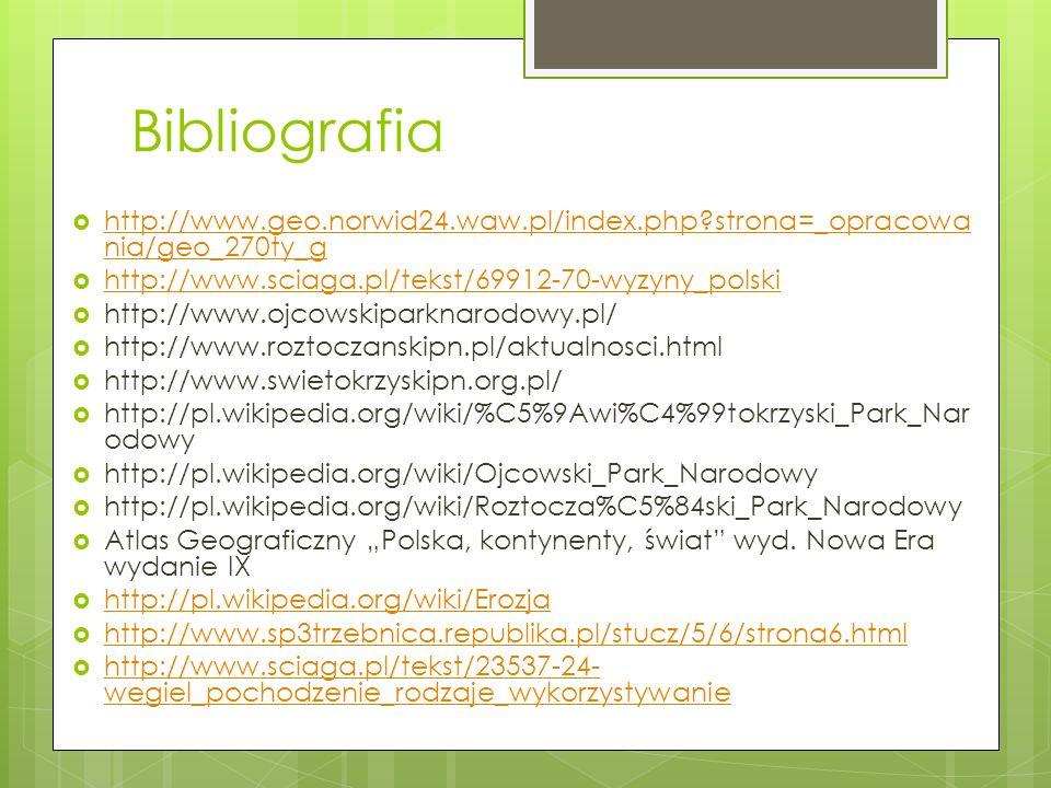 Bibliografia http://www.geo.norwid24.waw.pl/index.php?strona=_opracowa nia/geo_270ty_g http://www.geo.norwid24.waw.pl/index.php?strona=_opracowa nia/g