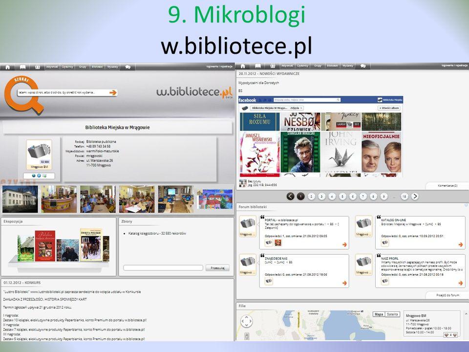 9. Mikroblogi w.bibliotece.pl