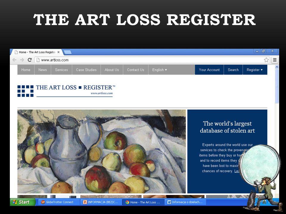 THE ART LOSS REGISTER