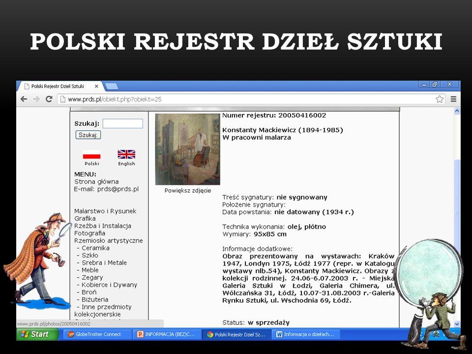POLSKI REJESTR DZIEŁ SZTUKI