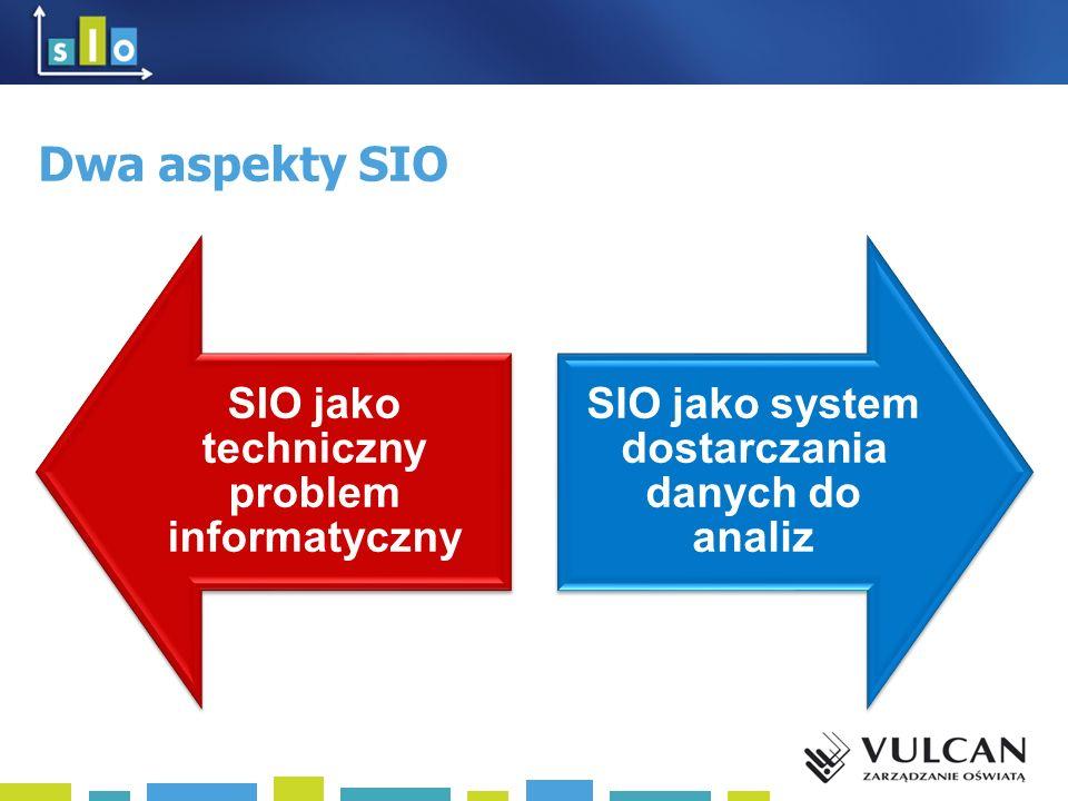 Dwa aspekty SIO SIO jako techniczny problem informatyczny SIO jako system dostarczania danych do analiz
