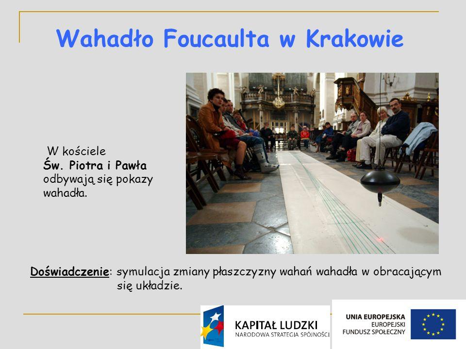 22 Wahadło Foucaulta w Krakowie W kościele Św.Piotra i Pawła odbywają się pokazy wahadła.
