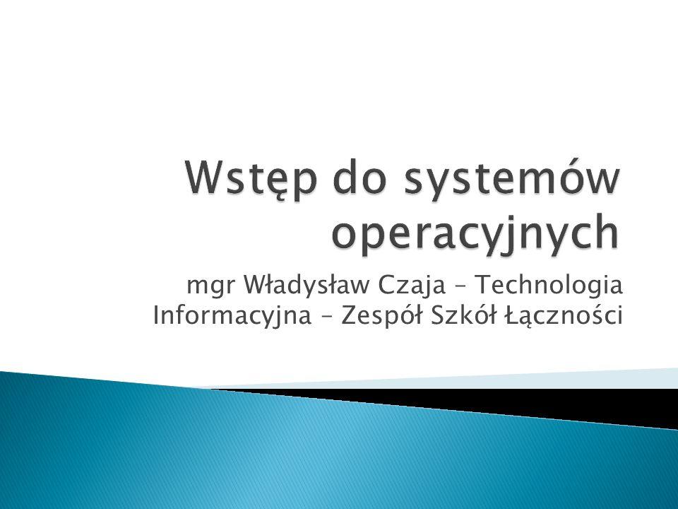 Zadania systemu operacyjnego.