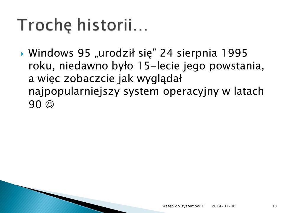 Windows 95 urodził się 24 sierpnia 1995 roku, niedawno było 15-lecie jego powstania, a więc zobaczcie jak wyglądał najpopularniejszy system operacyjny