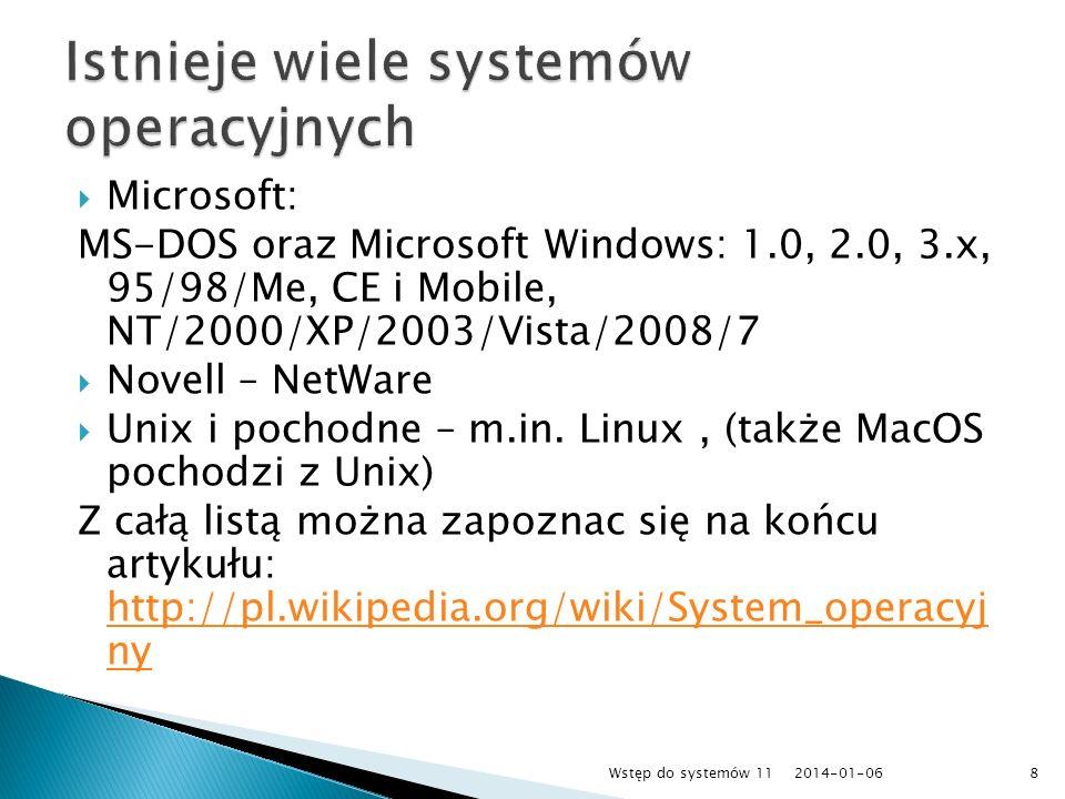 Paint, Wordpad, Autocad, CorelDraw, Photoshop, Word, Excel Aplikacja Windows 7, Windows Vista, Windows XP, Linux (np.