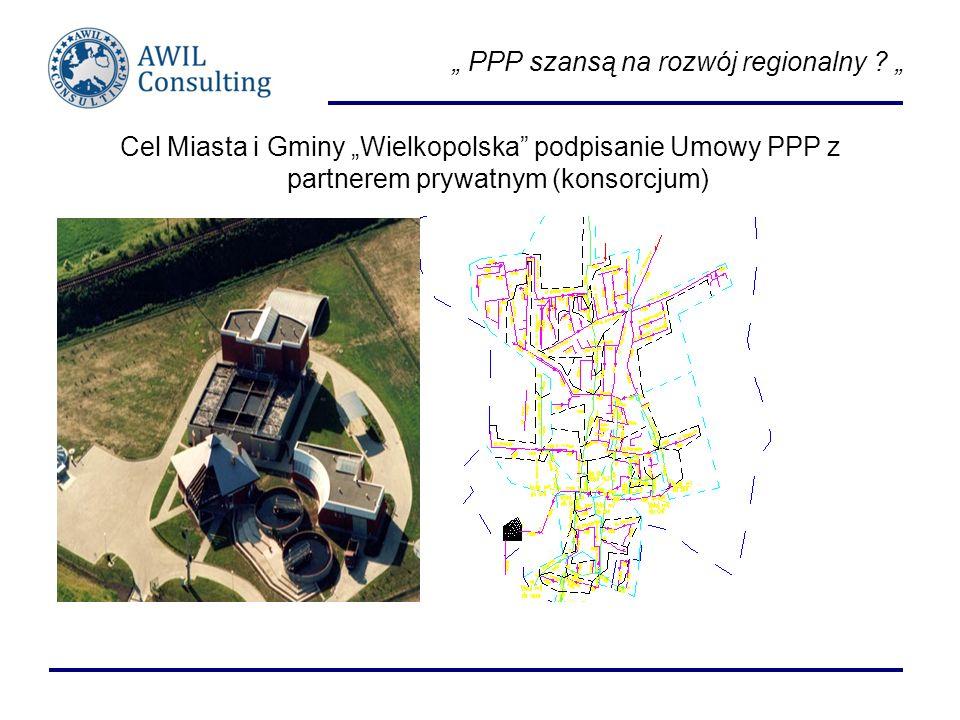 PPP szansą na rozwój regionalny ? Cel Miasta i Gminy Wielkopolska podpisanie Umowy PPP z partnerem prywatnym (konsorcjum)