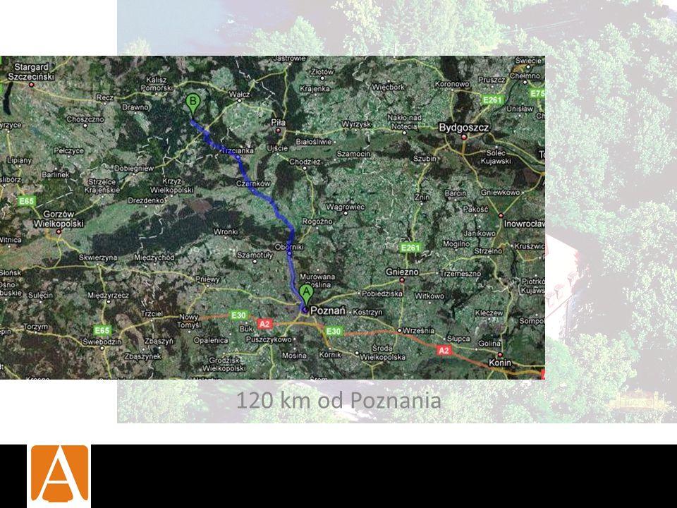 120 km od Poznania