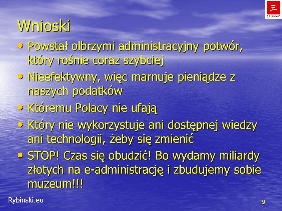 Rybinski.eu Wnioski Powstał olbrzymi administracyjny potwór, który rośnie coraz szybciej Powstał olbrzymi administracyjny potwór, który rośnie coraz s