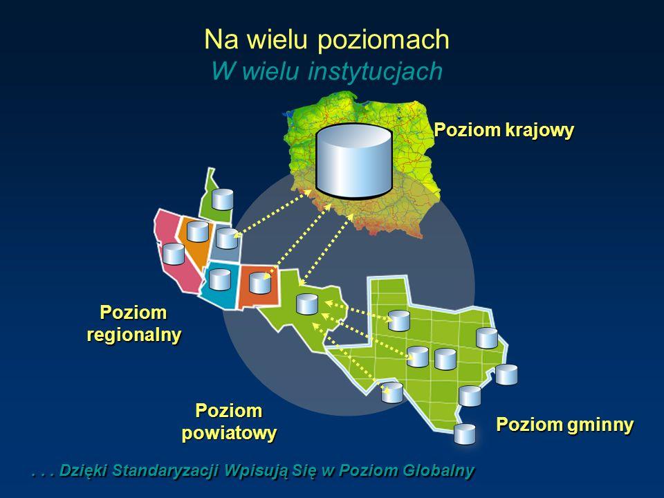 Poziomregionalny Poziom gminny Poziom krajowy Na wielu poziomach W wielu instytucjach... Dzięki Standaryzacji Wpisują Się w Poziom Globalny... Dzięki