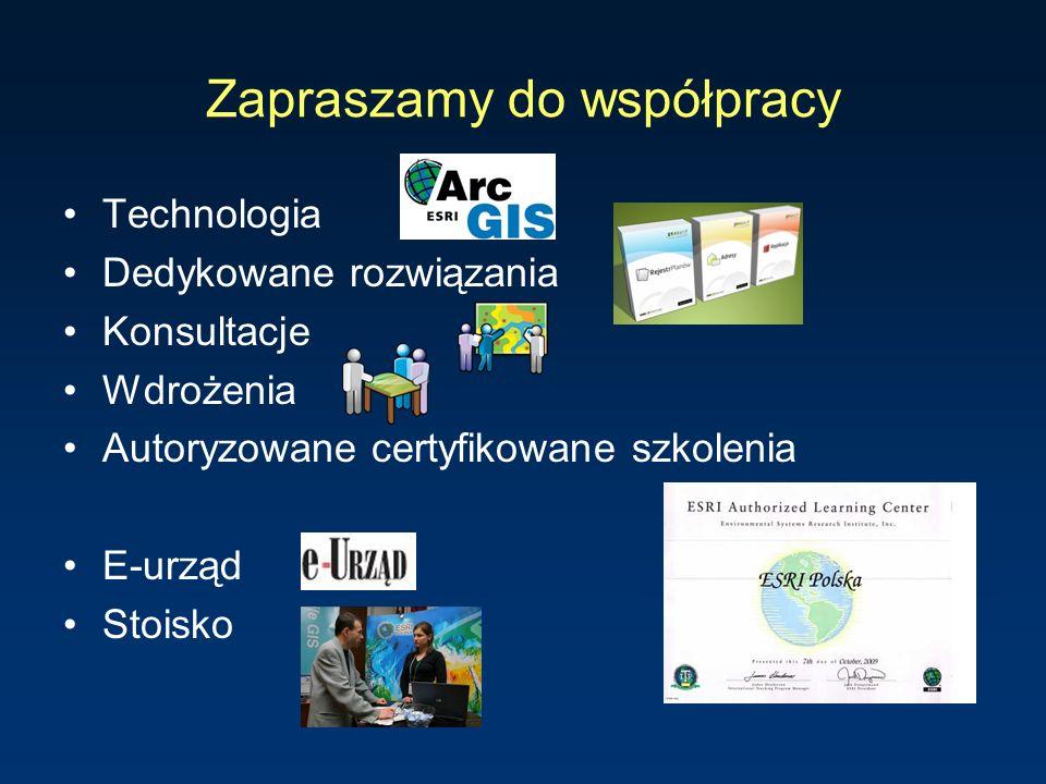 Zapraszamy do współpracy Technologia Dedykowane rozwiązania Konsultacje Wdrożenia Autoryzowane certyfikowane szkolenia E-urząd Stoisko