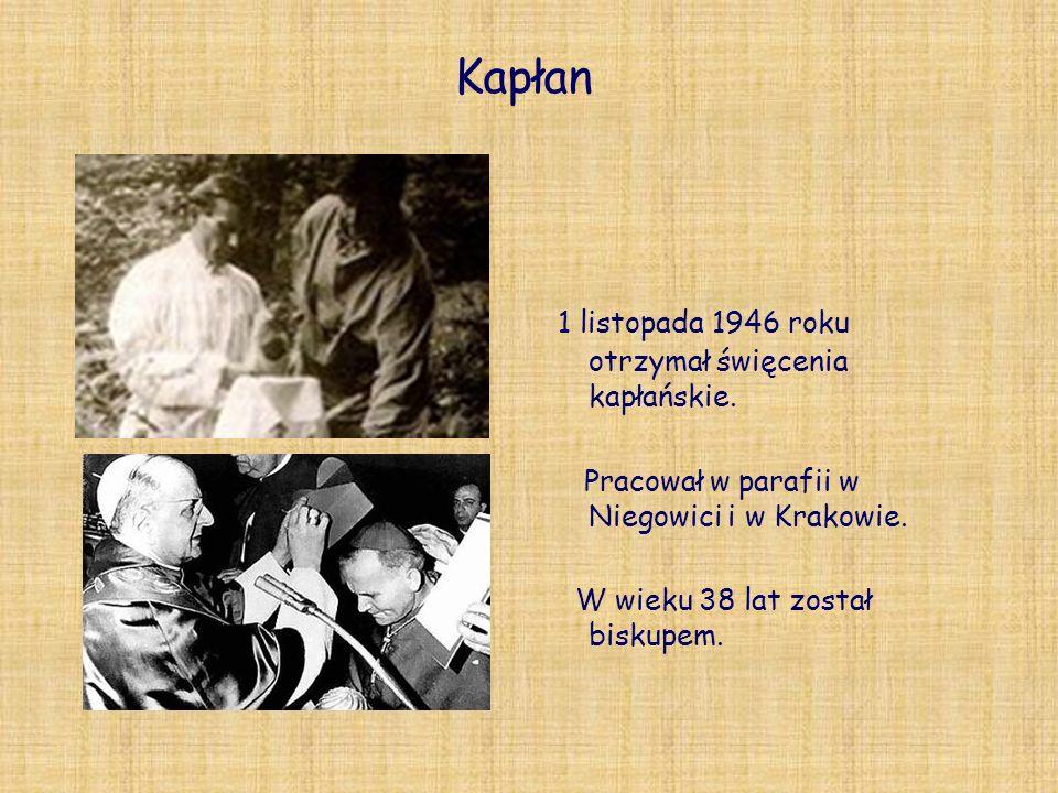 Kapłan 1 listopada 1946 roku otrzymał święcenia kapłańskie. Pracował w parafii w Niegowici i w Krakowie. W wieku 38 lat został biskupem.