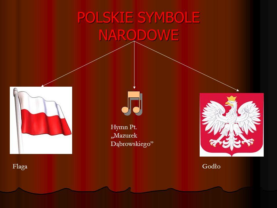 POLSKIE SYMBOLE NARODOWE Flaga Hymn Pt.,,Mazurek Dąbrowskiego Godło