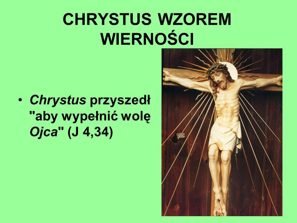 CHRYSTUS WZOREM WIERNOŚCI Chrystus przyszedł