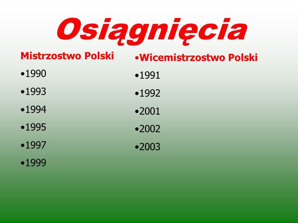 AZS Częstochowa po zdobyciu pierwszego tytułu w 1990 roku.