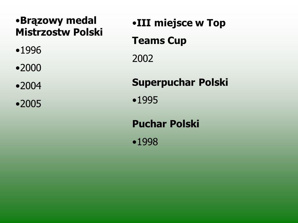 Osiągnięcia Mistrzostwo Polski 1990 1993 1994 1995 1997 1999 Wicemistrzostwo Polski 1991 1992 2001 2002 2003