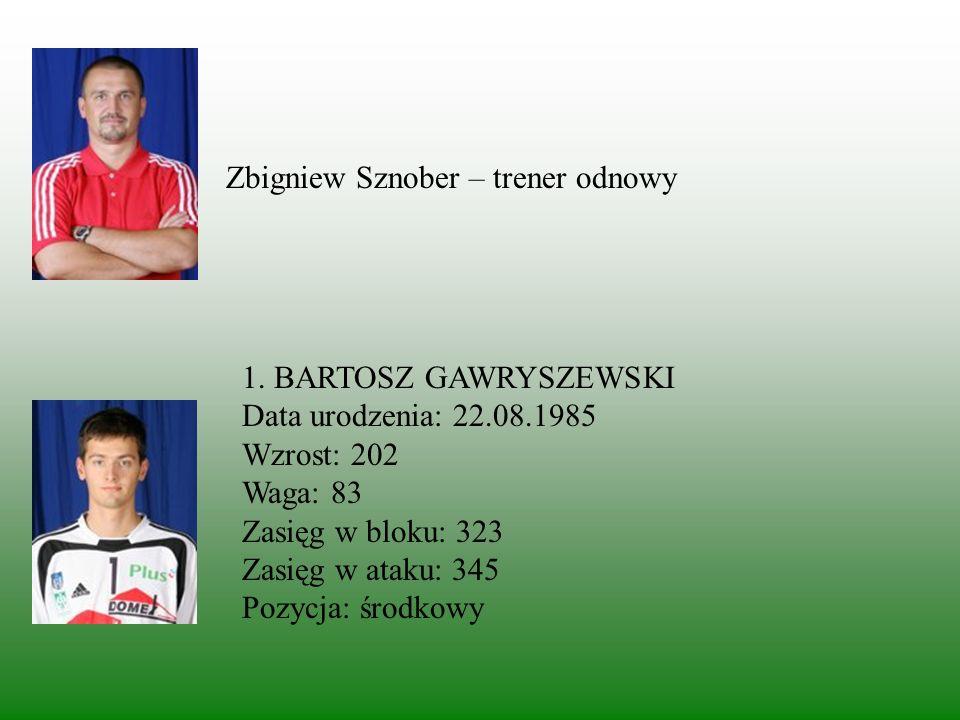 Edward Skorek - trener Kadra Stanisław Gościniak – II trener