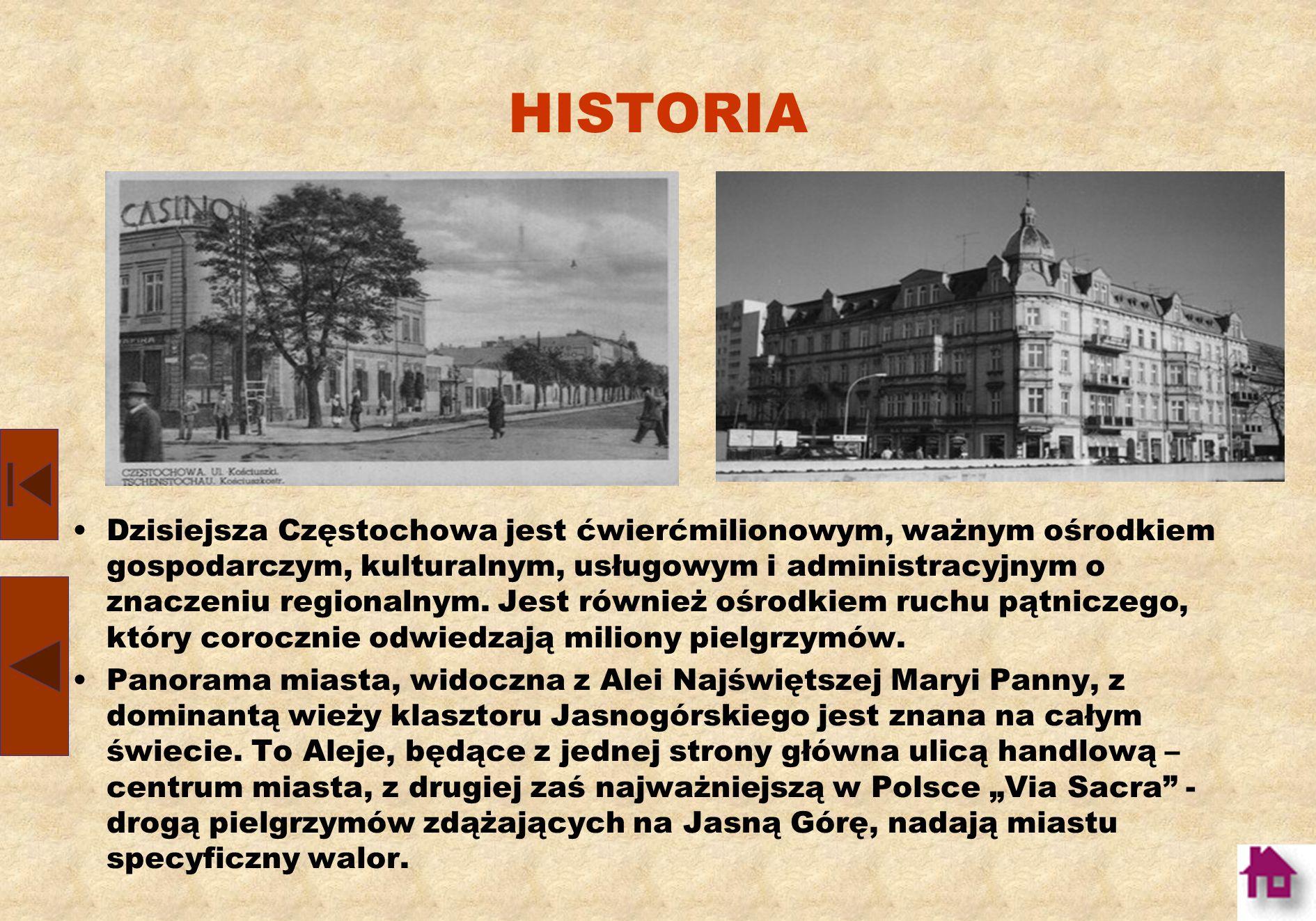 HISTORIA Po zakończeniu wojny, zapadła decyzja o budowie kombinatu metalurgicznego i uczynieniu z Częstochowy siedziby ogólnokrajowego Zjednoczenia Ko