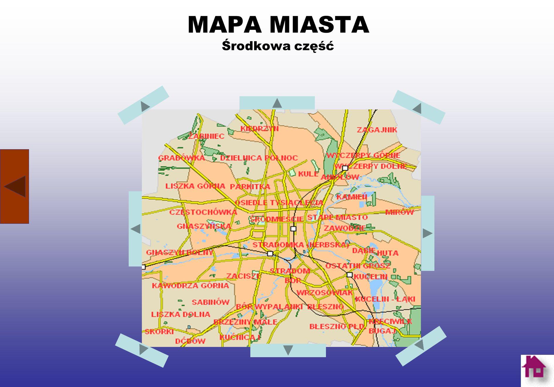 O CZĘSTOCHOWIE Częstochowa leży na Wyżynie Krakowsko-Częstochowskiej nad Wartą.
