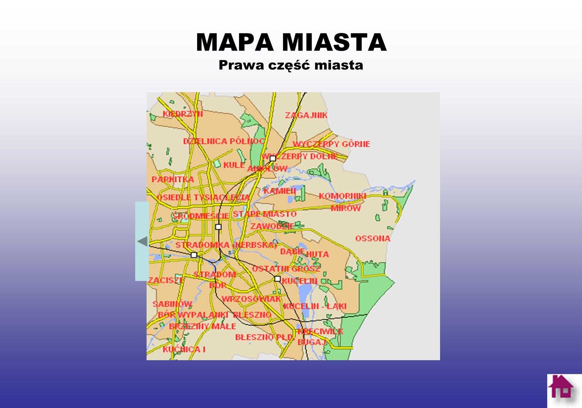MAPA MIASTA Środkowa część