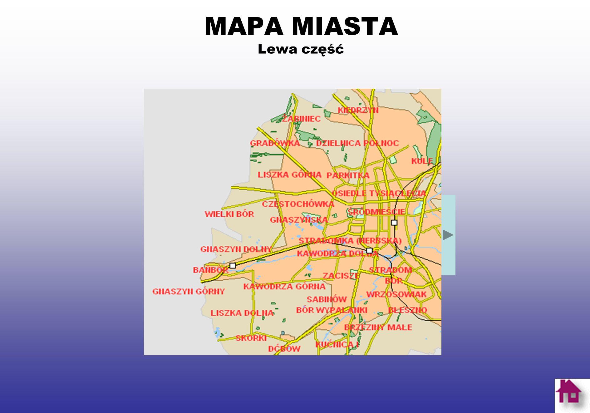 MAPA MIASTA Prawa część miasta