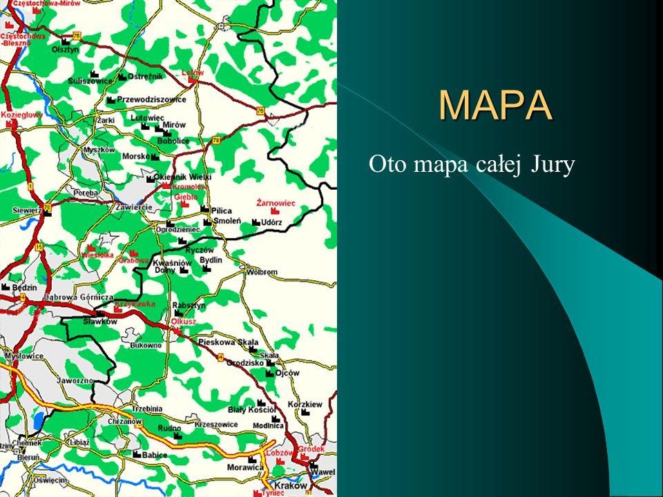 MAPA MAPA Oto mapa całej Jury