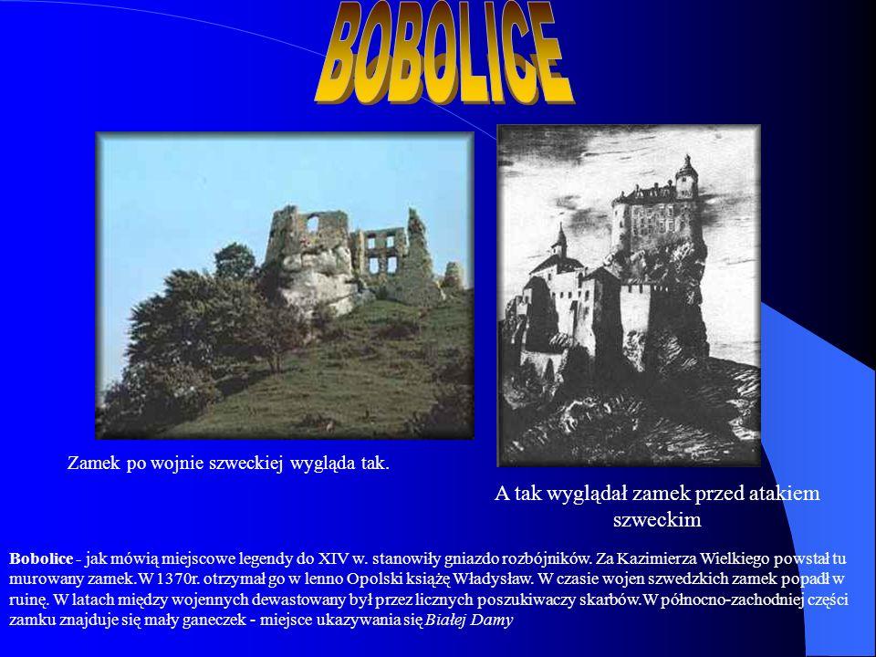 Zamek po wojnie szweckiej wygląda tak. A tak wyglądał zamek przed atakiem szweckim Bobolice - jak mówią miejscowe legendy do XIV w. stanowiły gniazdo