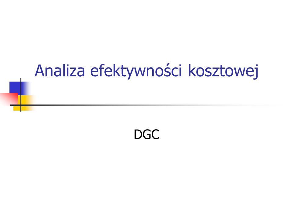 Analiza efektywności kosztowej DGC