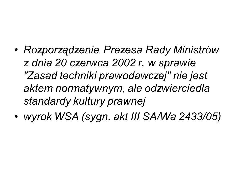 Rozporządzenie Prezesa Rady Ministrów z dnia 20 czerwca 2002 r. w sprawie