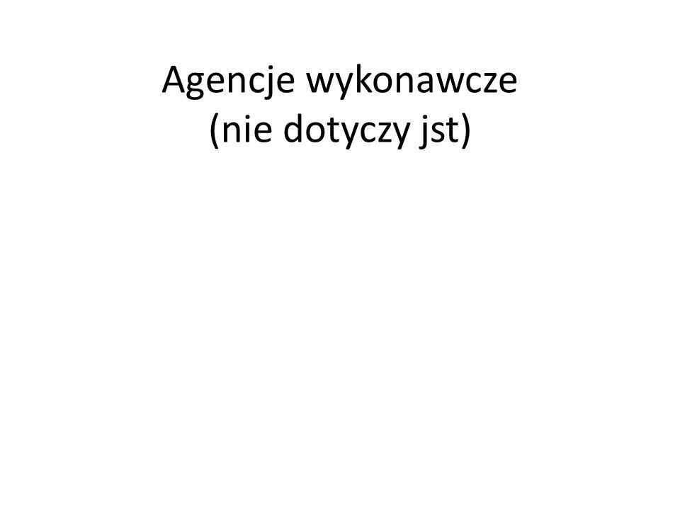 Agencje wykonawcze (nie dotyczy jst)