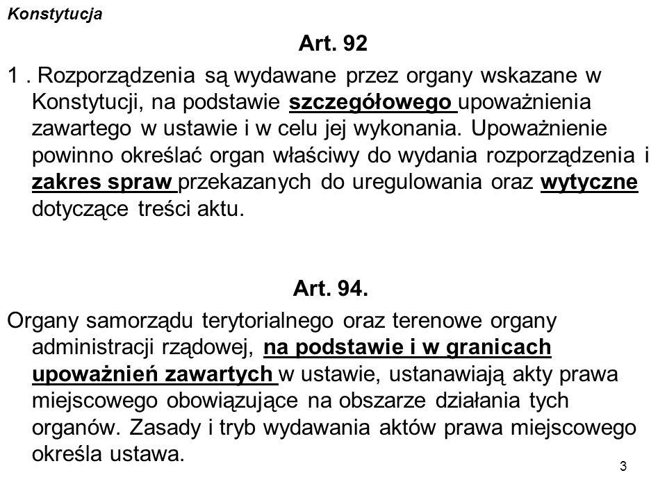 tytuł; preambuła; przepisy merytoryczne: –ogólne; –szczegółowe: »przepisy prawa materialnego, »przepisy o organach (przepisy ustrojowe), »przepisy o postępowaniu przed organami (przepisy proceduralne), »przepisy o odpowiedzialności karnej (przepisy karne); przepisy zmieniające (nowelizujące); przepisy przejściowe i dostosowujące; przepisy końcowe: –przepisy uchylające; –przepisy o wygaśnięciu mocy obowiązującej ustawy; –przepisy o wejściu ustawy w życie; załącznik.