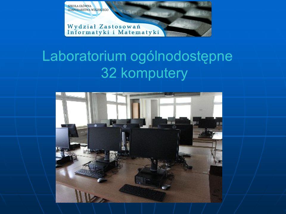 Laboratorium ogólnodostępne 32 komputery