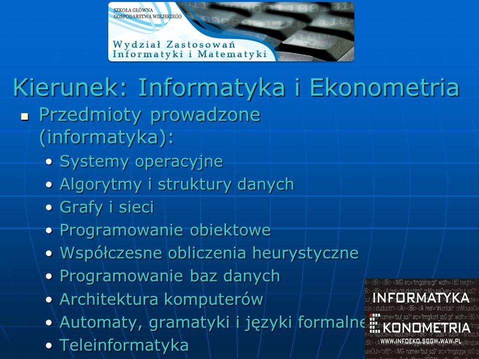 Przedmioty prowadzone (informatyka): Przedmioty prowadzone (informatyka): Systemy operacyjneSystemy operacyjne Algorytmy i struktury danychAlgorytmy i
