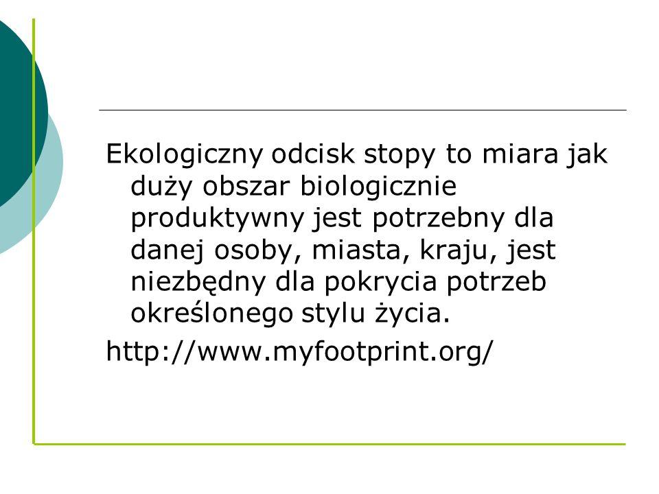 Co składa się na ekologiczny odcisk stopy?