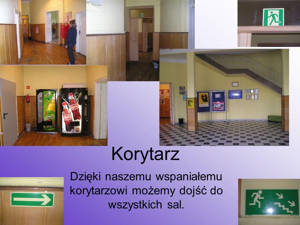 Korytarz Dzięki naszemu wspaniałemu korytarzowi możemy dojść do wszystkich sal.