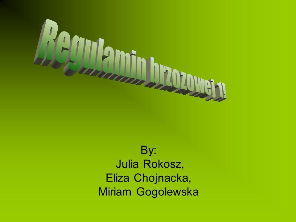 By: Julia Rokosz, Eliza Chojnacka, Miriam Gogolewska