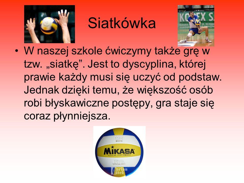 Koszykówka Koszykówka jest drugim po piłce nożnej sportem uprawianym w szkole przy ulicy Brzozowej.