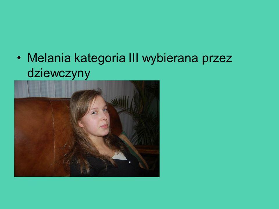 Melania kategoria III wybierana przez dziewczyny