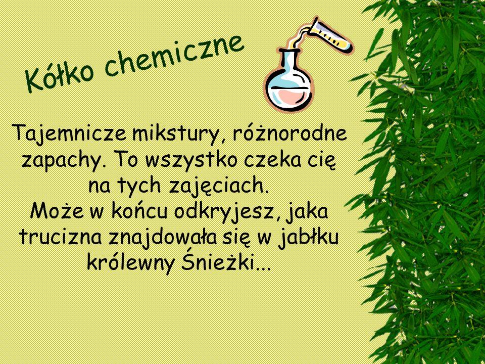 Kółko chemiczne Tajemnicze mikstury, różnorodne zapachy.