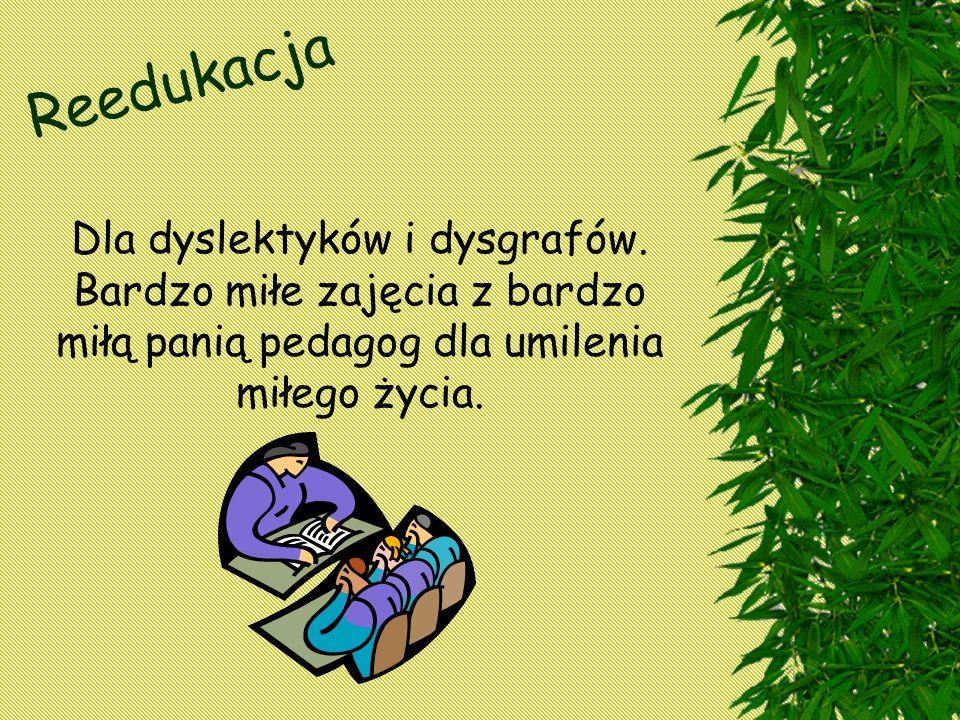 Reedukacja Dla dyslektyków i dysgrafów.