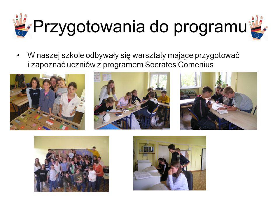 Przygotowania do programu W naszej szkole odbywały się warsztaty mające przygotować i zapoznać uczniów z programem Socrates Comenius