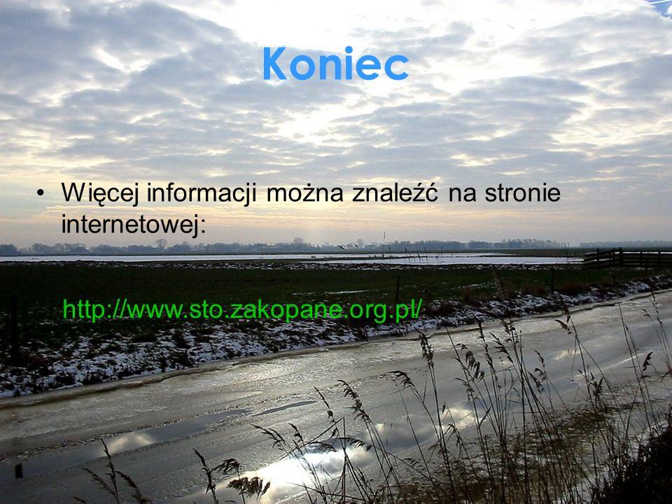 Koniec Więcej informacji można znaleźć na stronie internetowej: http://www.sto.zakopane.org.pl/