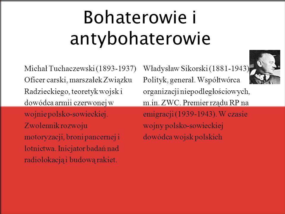 Bohaterowie i antybohaterowie Michał Tuchaczewski (1893-1937) Oficer carski, marszałek Związku Radzieckiego, teoretyk wojsk i dowódca armii czerwonej w wojnie polsko-sowieckiej.