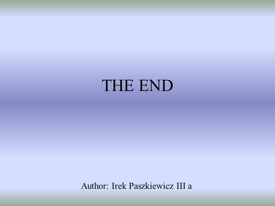 THE END Author: Irek Paszkiewicz III a