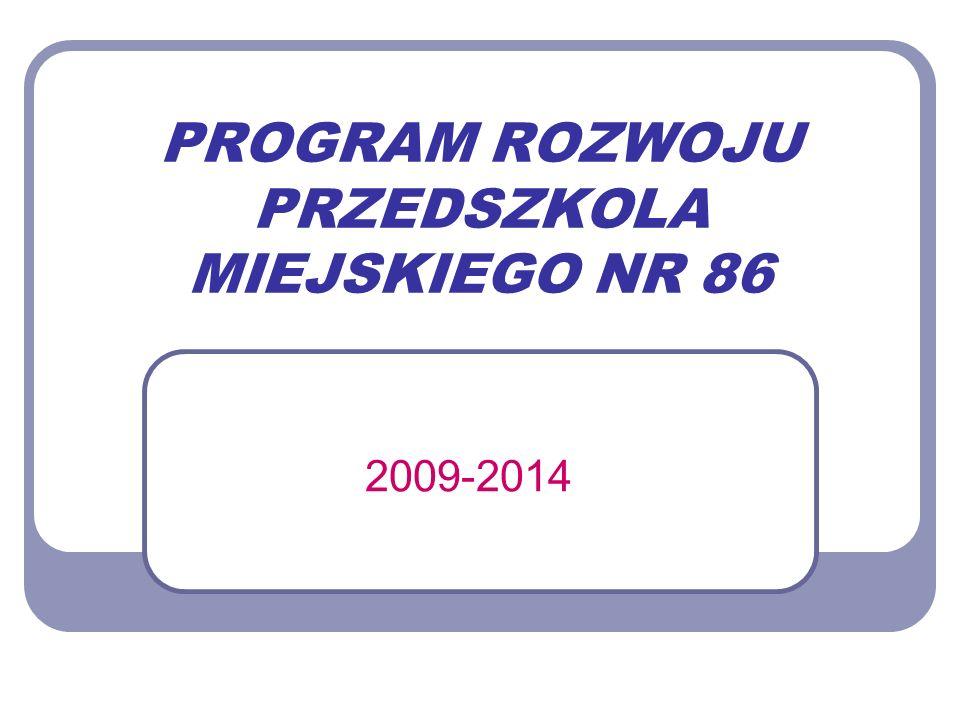 PROGRAM ROZWOJU PRZEDSZKOLA MIEJSKIEGO NR 86 2009-2014