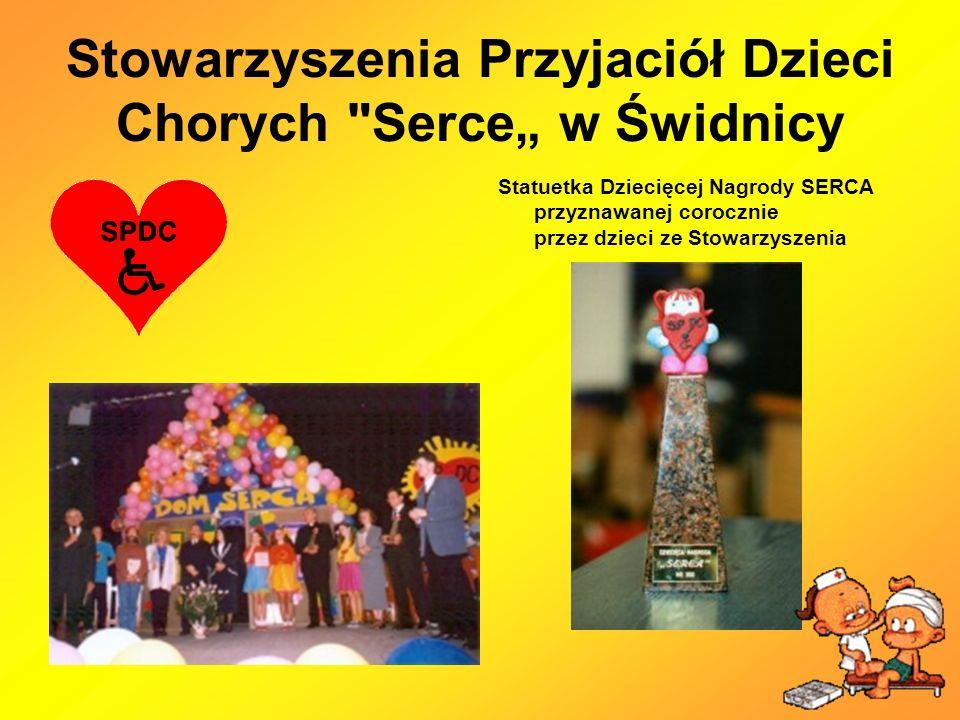 Stowarzyszenia Przyjaciół Dzieci Chorych Serce w Świdnicy Statuetka Dziecięcej Nagrody SERCA przyznawanej corocznie przez dzieci ze Stowarzyszenia