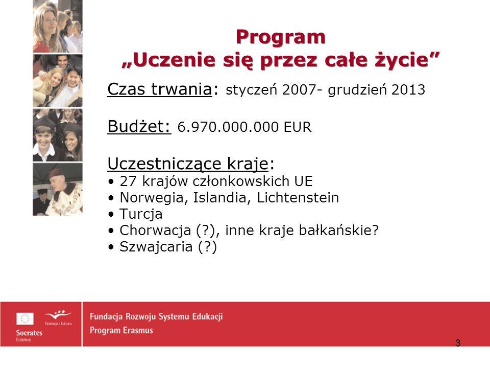 4 Program LLP – istotne dokumenty Decyzja Parlamentu Europejskiego ustanawiająca program Zaproszenie do składania wniosków Cz.