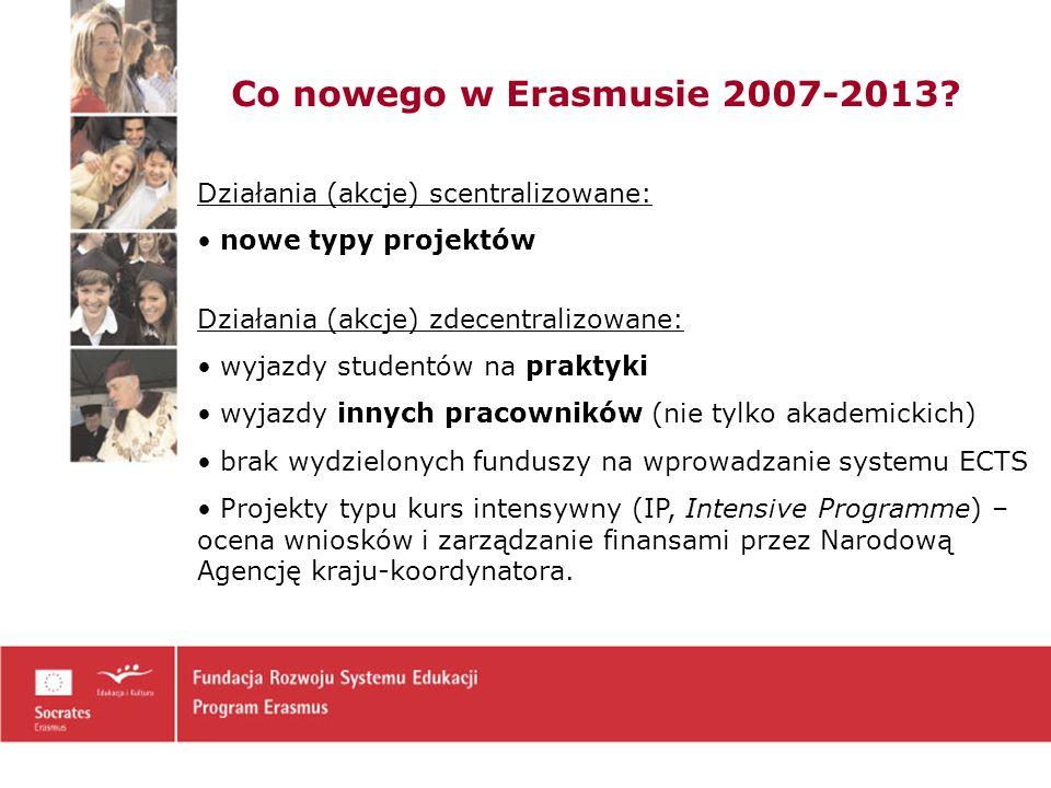 10 Działania zdecentralizowane Erasmusa Wyjazdy studentów (BWZ – do 30.03.br.) - studia - praktyki - studia + praktyki Wyjazdy pracowników (BWZ – do 30.03.br.) - nauczycieli akademickich - innych pracowników Organizacja Wymiany – OM (BWZ – j.w.) Erasmus Intensive Languages Courses EILC (jednostka UW – do 30.03.br.) Projekty Kursy Intensywne IP (jednostki UW- j.w.) Uczelnia składa wniosek do Narodowej Agencji (Info.