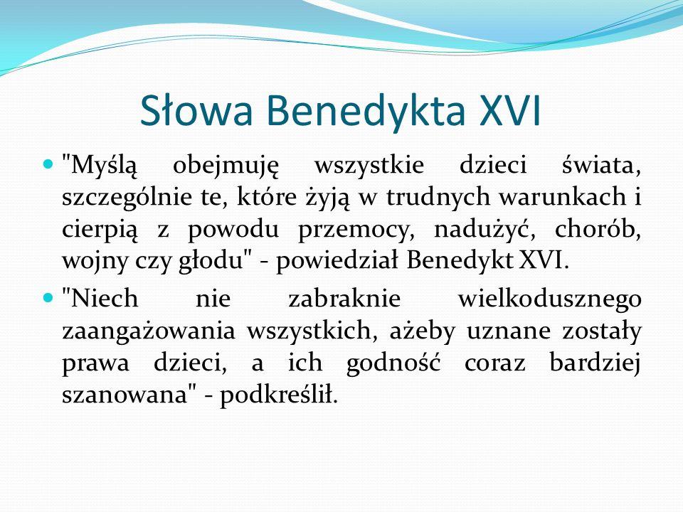Słowa Benedykta XVI